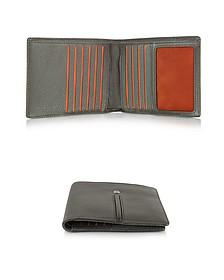 Web Collection - Dark Brown Small Men's Wallet - Giorgio Fedon 1919