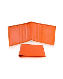 Classica - Men's Orange Calfskin Card Holder Wallet - Giorgio Fedon 1919