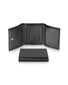 Classica - Women's Black Calfskin Small Trifold Wallet - Giorgio Fedon 1919