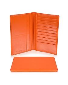 Classica Collection - Orange Calfskin Vertical Card Holder Wallet - Giorgio Fedon 1919