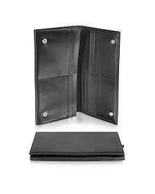 Classica Collection - Black Calfskin Continental Wallet - Giorgio Fedon 1919