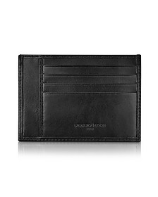 Classica Collection - Black Calfskin Card Holder  - Giorgio Fedon 1919