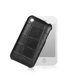 Croco-Stamped Leather iPhone 3 Case - Giorgio Fedon 1919