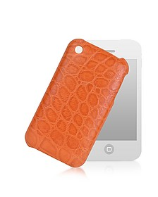 Croco-Stamped Leather iPhone 3 Case - Giorgio Fedon 1919