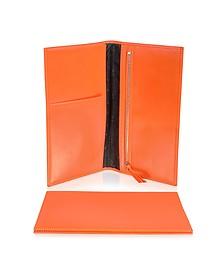 Classica Collection - Orange Calfskin Travel Document Case - Giorgio Fedon 1919