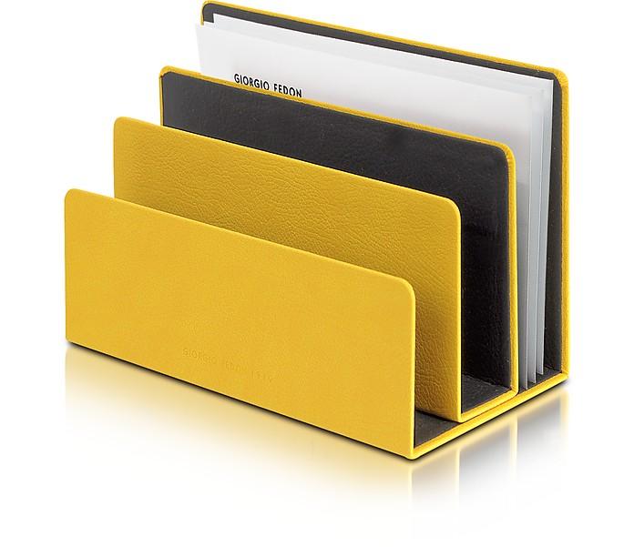 Charme - Yellow Desk Letter Holder - Giorgio Fedon 1919