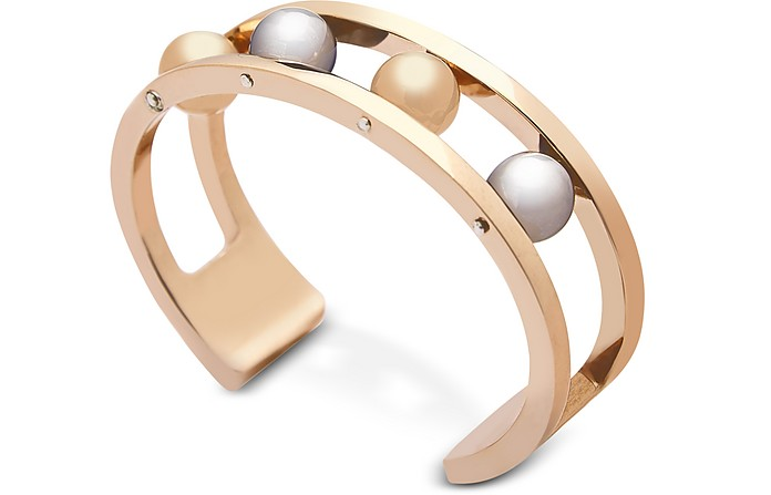 Two Tone Ball Bangle  - Federica Tosi