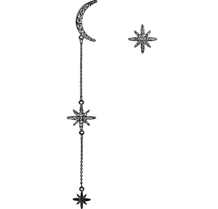 Long Moon Star Earrings - Federica Tosi