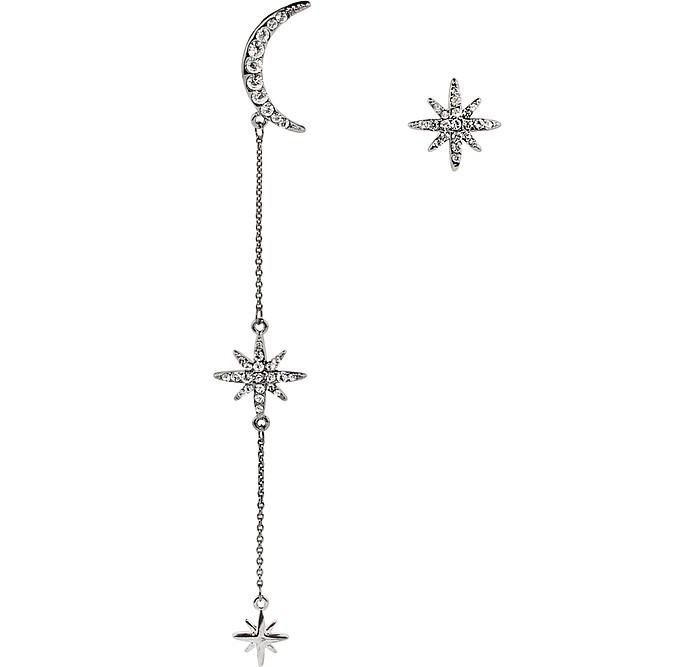 Long Moon Star Earrings - Federica Tosi