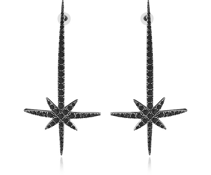 Comet Earrings w/Strass - Federica Tosi
