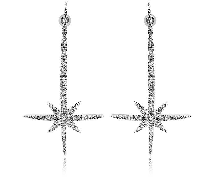 Comet Earrings w/Strass - Federica Tosi