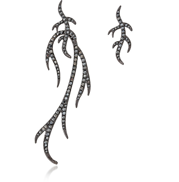 Blackened Sterling Silver Twigs Earring - Federica Tosi