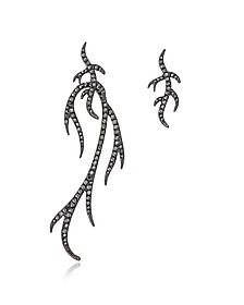 Blackened Sterling Silver Twigs Earring - Federica Tosi