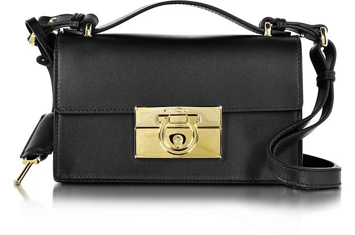 92b3d79e996d Salvatore Ferragamo Aileen Black Leather Shoulder Bag at FORZIERI