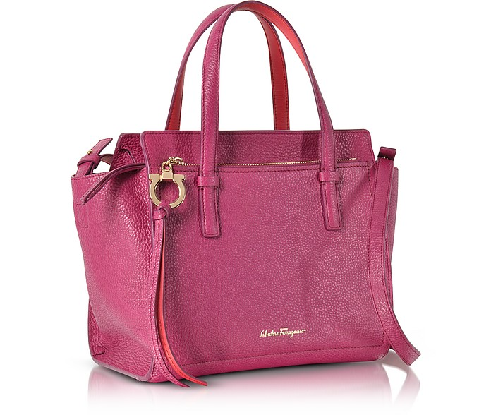 Salvatore Ferragamo Amy Sangria Small Leather Handbag at FORZIERI Canada e54a6ee900cc2