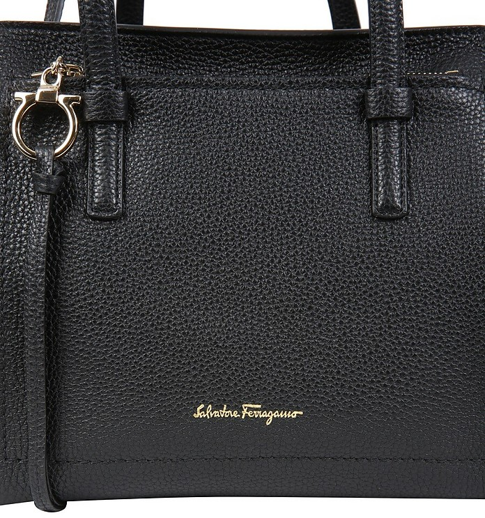Black Leather Amy Bag - Salvatore Ferragamo