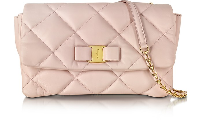 Salvatore Ferragamo Macaron Gelly Quilted Nappa Leather Shoulder Bag ... 1b61d104db674