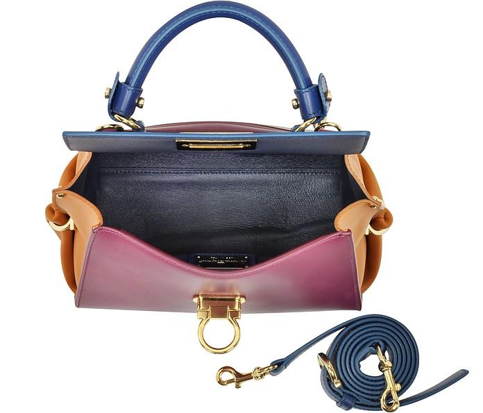 bf77367083 Salvatore Ferragamo Small Sofia Color Block Leather Shoulder Bag at ...