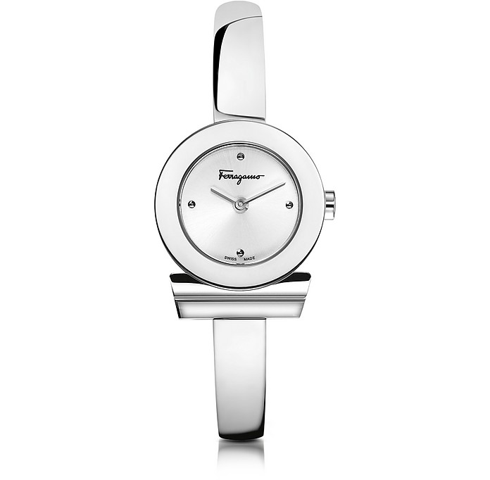 Gancino Silver Stainless Steel Women's Watch - Salvatore Ferragamo