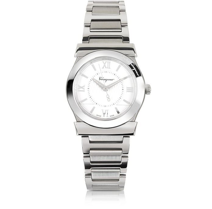Vega Silver Tone Stainless Steel Women's Watch - Salvatore Ferragamo