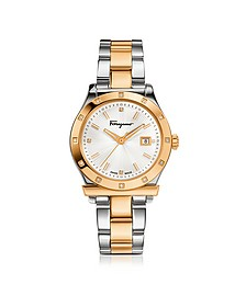 Ferragamo 1898 Gold IP and Stainless Steel Men's Watch - Salvatore Ferragamo