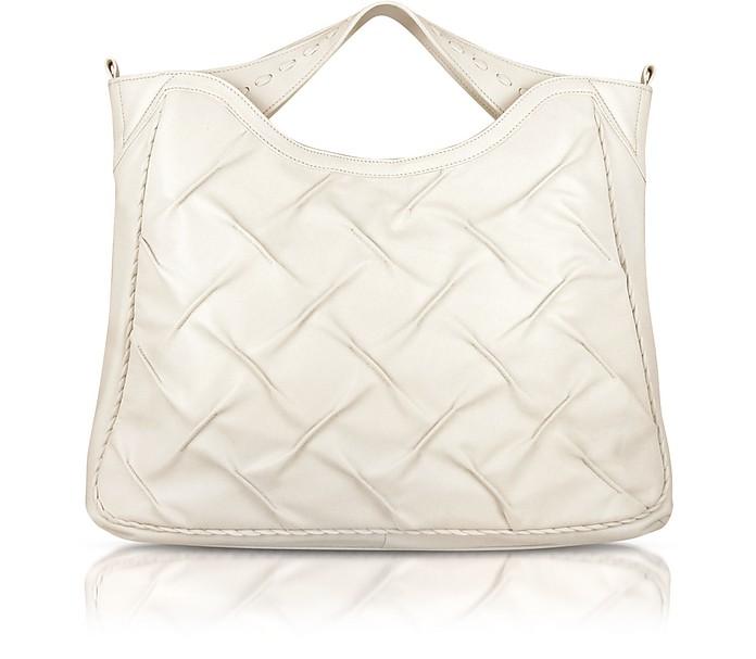 Pleated Nappa Leather Tote Bag - Fontanelli