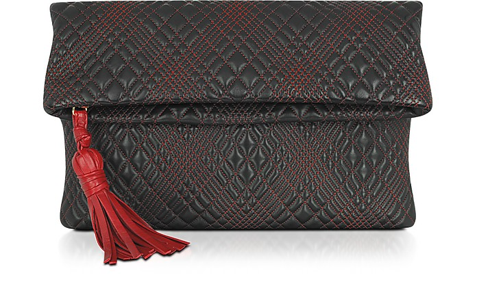 Fontanelli Black Quilted Leather Clutch at FORZIERI : quilted leather clutch - Adamdwight.com