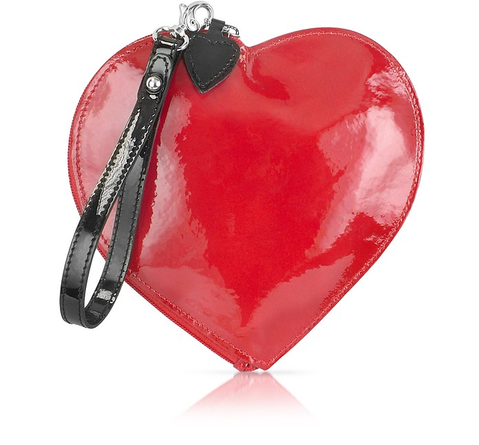 Patent Leather Heart Coin Purse - Fontanelli