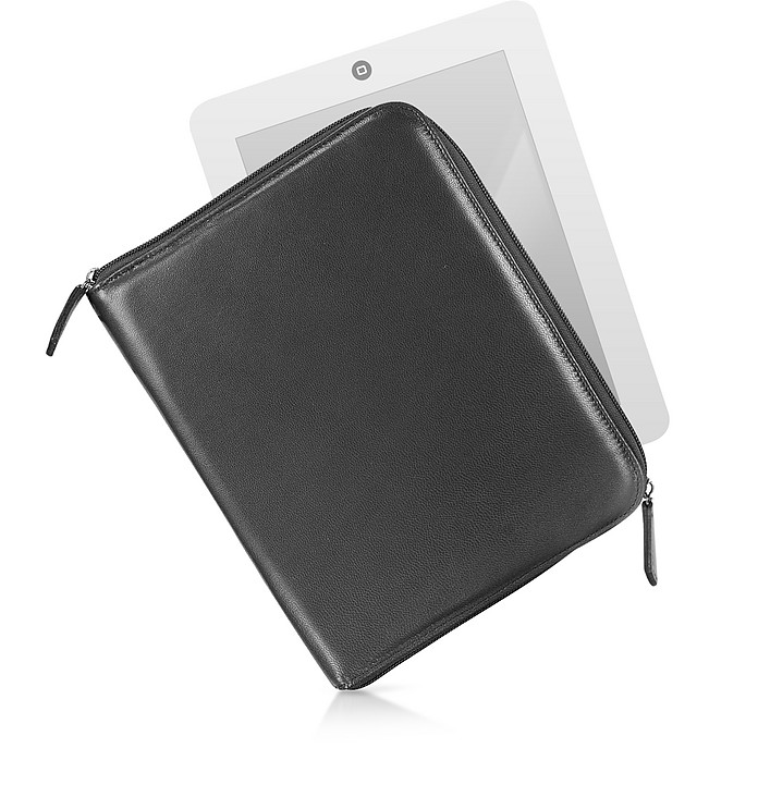 Zippered Leather Tablet Case - Fontanelli