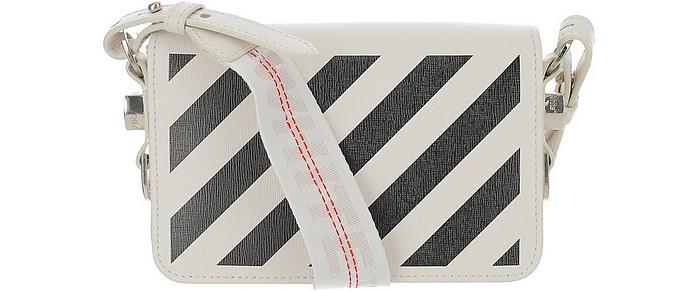 White Mini Diag Shoulder Bag - Off-White