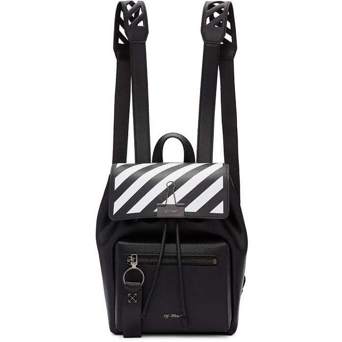 Black Diag Backpack - Off-White