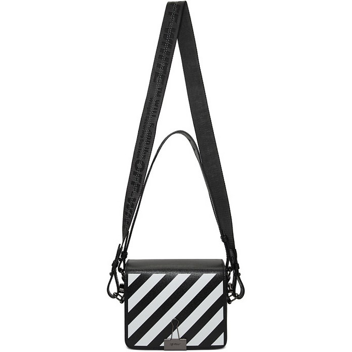 Black Diag Flap Bag - Off-White