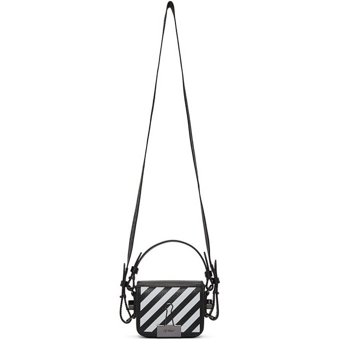 Black Baby Flap Crossbody Bag - Off-White