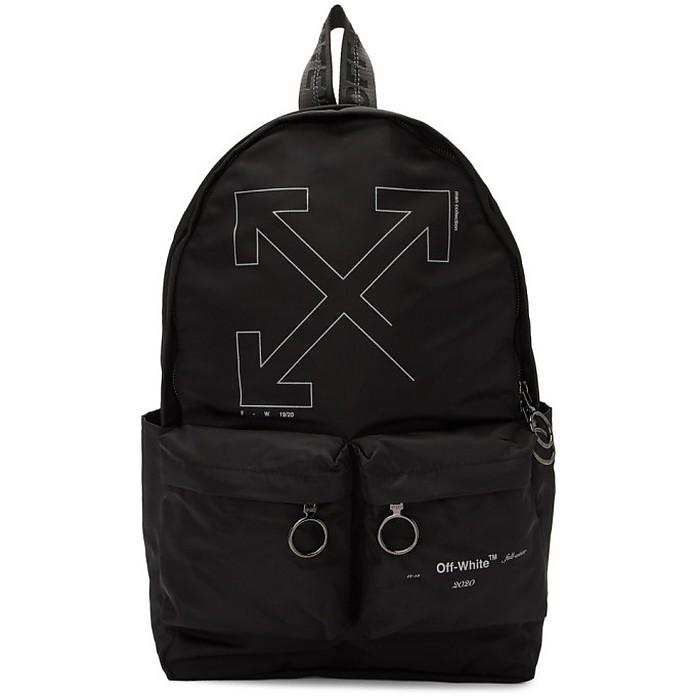 Black Unfinished Backpack - Off-White