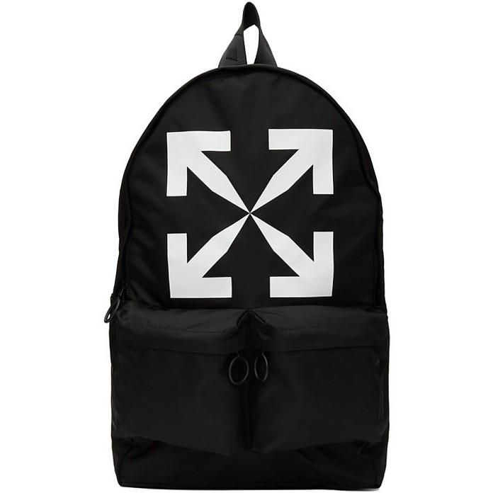 Black Arrow Backpack - Off-White