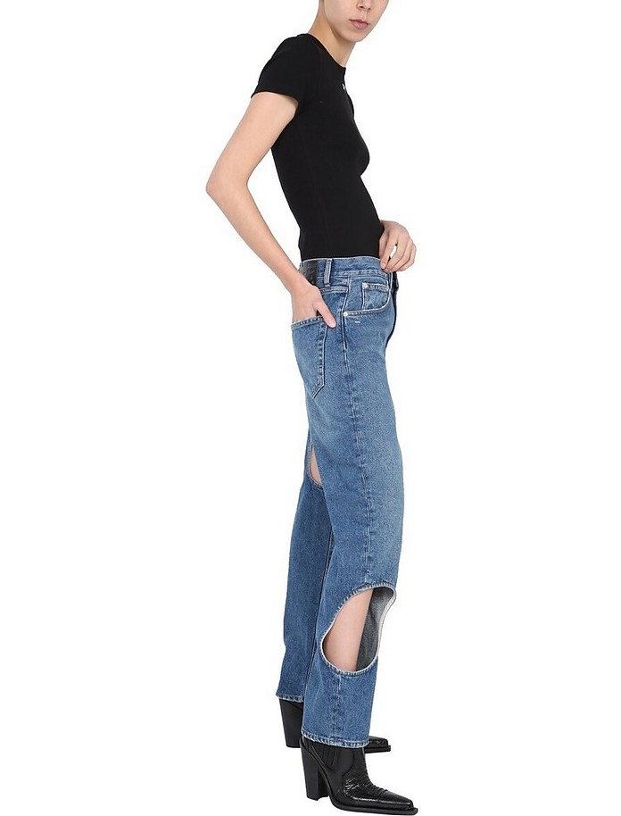 """""""Hole Baggy"""" Jeans - Off-White"""
