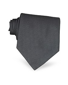 Ponte Vecchio Old Bridge Dark Gray Woven Silk Tie