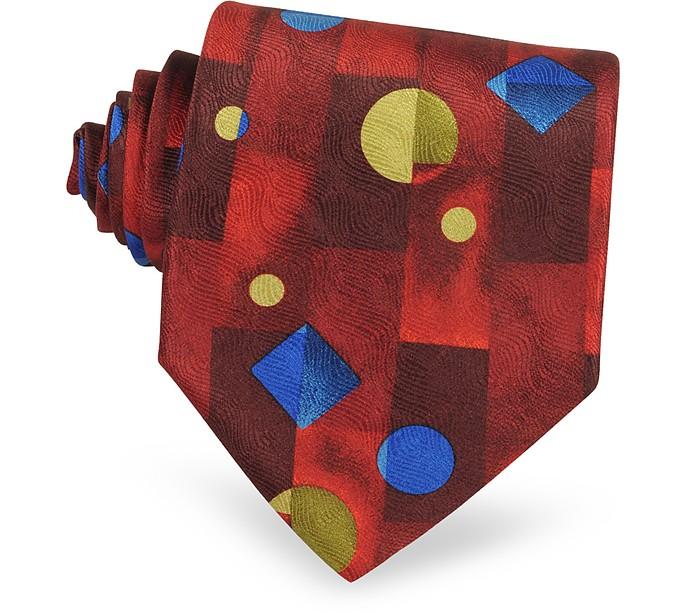Geometric Silk Tie - Forzieri