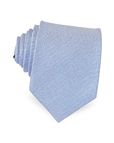 Light Blue Woven Silk Tie - Forzieri