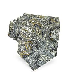 Ornamental Print Silk Tie - Forzieri