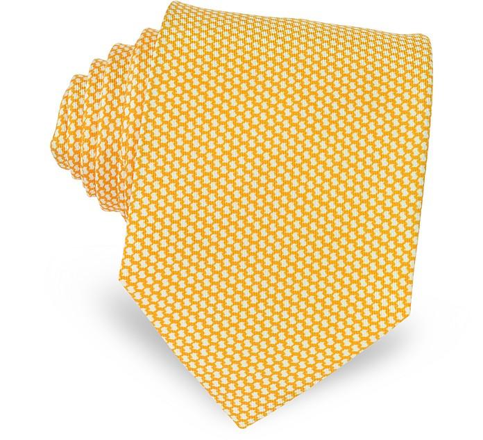 Двухцветный Текстурный Шелковый Галстук - Forzieri
