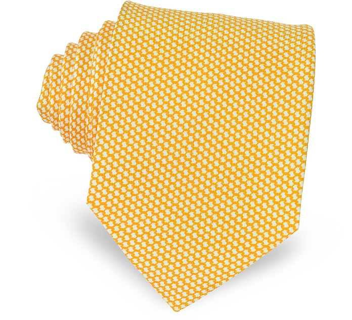 Bicolor Woven Silk Tie - Forzieri