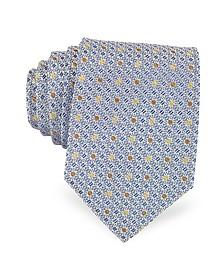 Bicolor Dots Woven Silk Tie - Forzieri