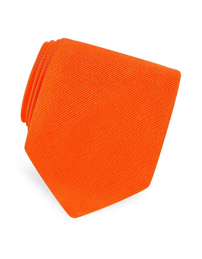 Cravate soie sergée unie - Forzieri