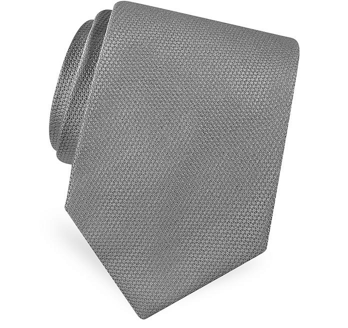 Línea Dorado - Corbata Seda Clásica Lisa - Forzieri