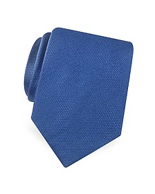Gold Line Solid Classic Woven Silk Tie - Forzieri
