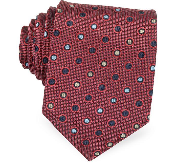 Gewobene Krawatte mit multicolor Punkten - Forzieri