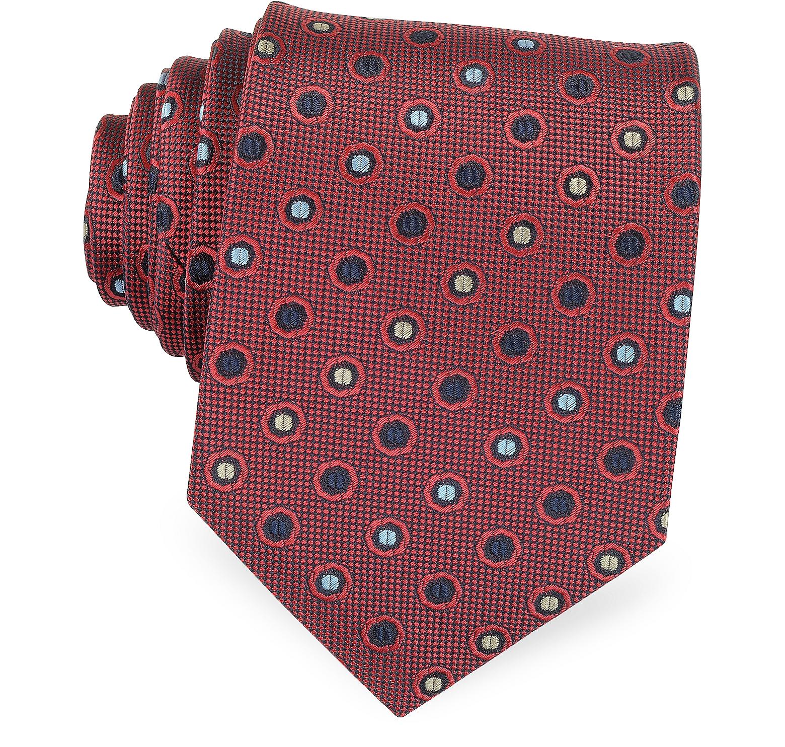 Multicolor Dots Woven Pure Silk Men's tie