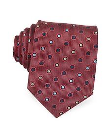 Multicolor Dots Woven Pure Silk Men's tie - Forzieri