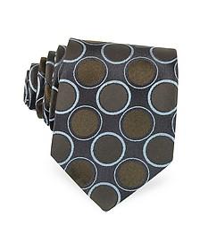 Optical Woven Silk Tie - Forzieri